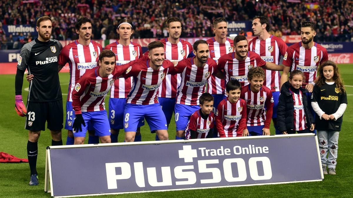 Alineación del Atlético de Madrid. (AFP)