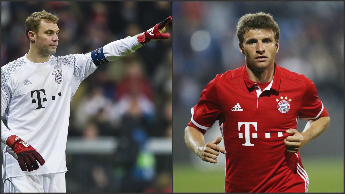 Muller y Neuer estarán ante el Real Madrid