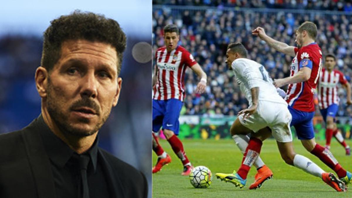 La polémica acción que le dio la victoria al Atlético la pasada temporada.