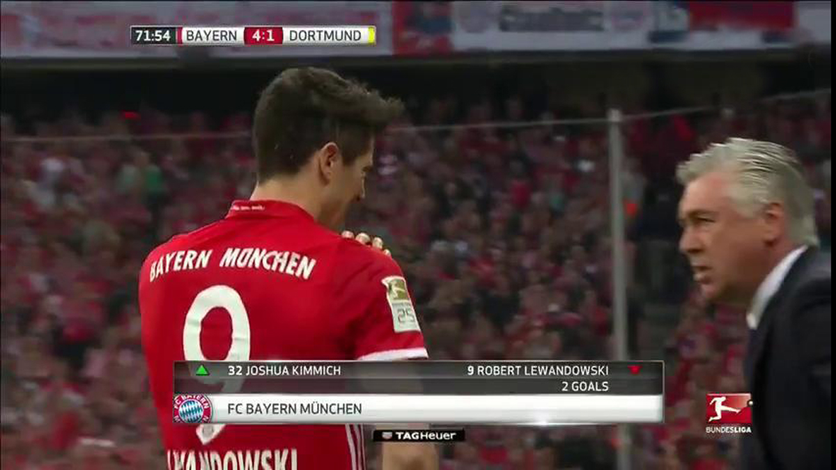 Saltan las alarmas en el Bayern: Lewandowski se retira lesionado del partido ante el Dortmund