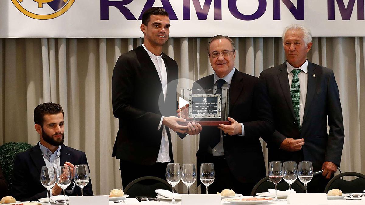 Pepe y Florentino en la peña Ramón Mendoza
