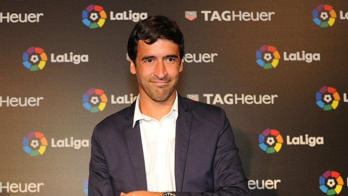 Raúl González, en un acto de la Liga. (Getty)