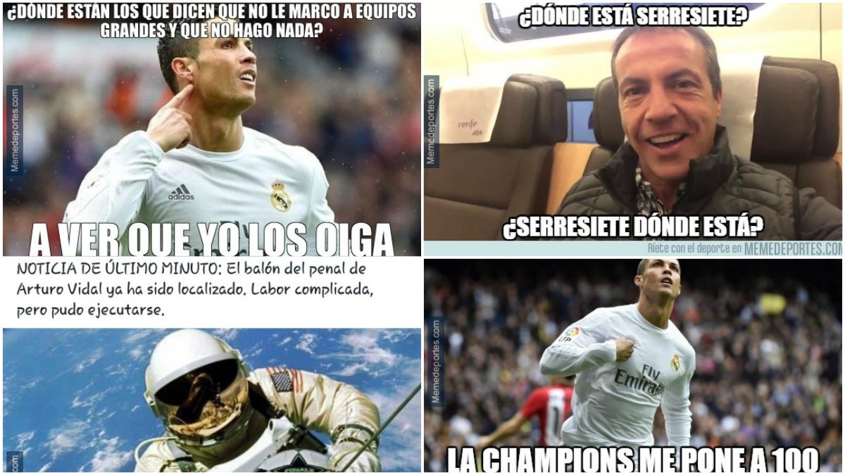 Cristiano y Cristóbal Soria protagonizan los memes del Bayern vs Real Madrid.