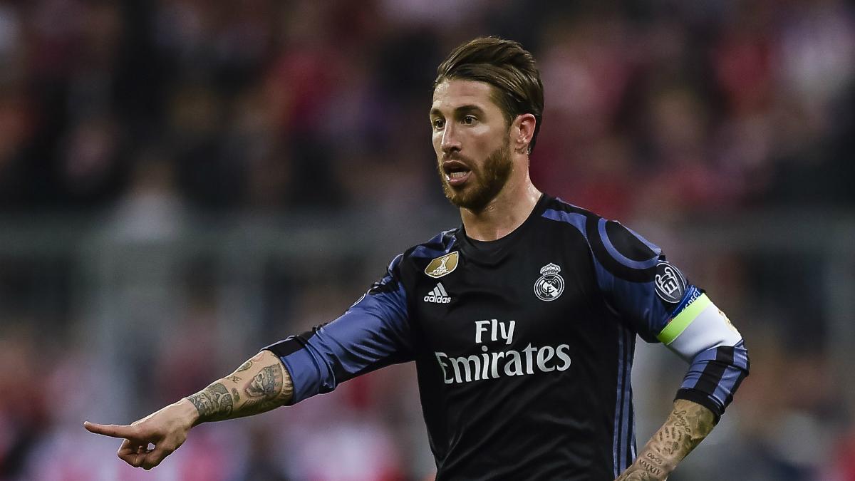 Sergio Ramos, en un lance del encuentro frente al Bayern. (AFP)