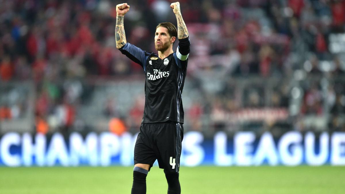 Sergio Ramos celebra el triunfo el pasado miércoles en Múnich (Foto: AFP).