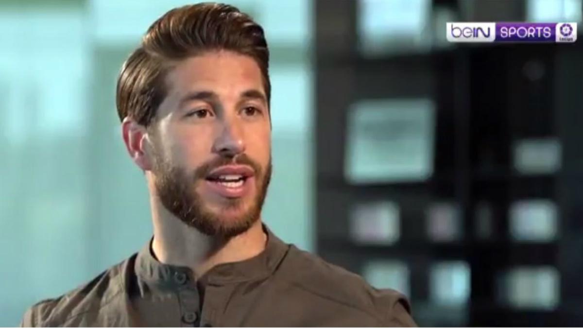Sergio Ramos durante la entrevista. (captura BeIN)