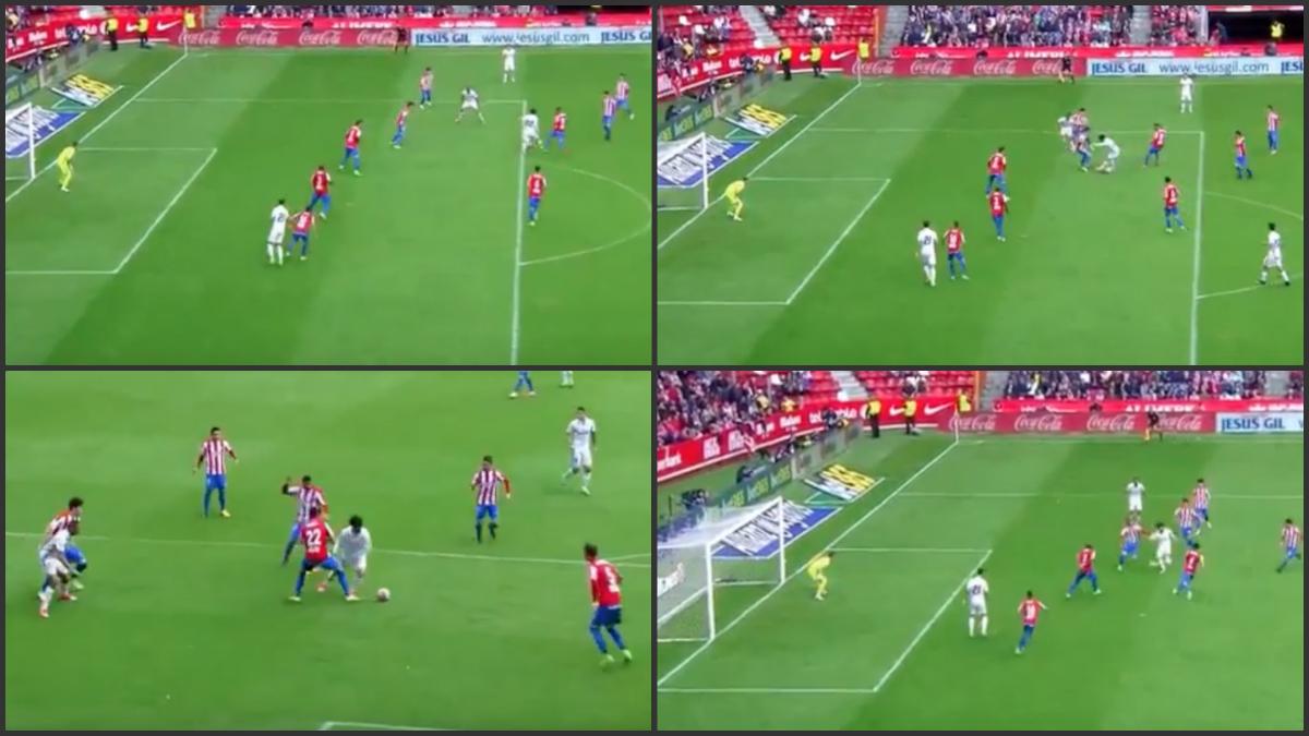 Secuencia del golazo de Isco ante el Sporting.