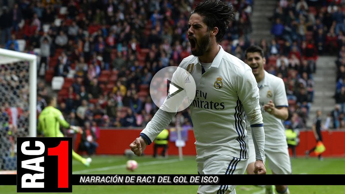 Isco celebra el gol de la victoria ante el Sporting. (Getty)