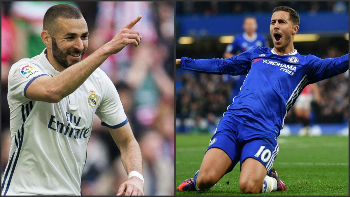 Benzema avala a Hazard.