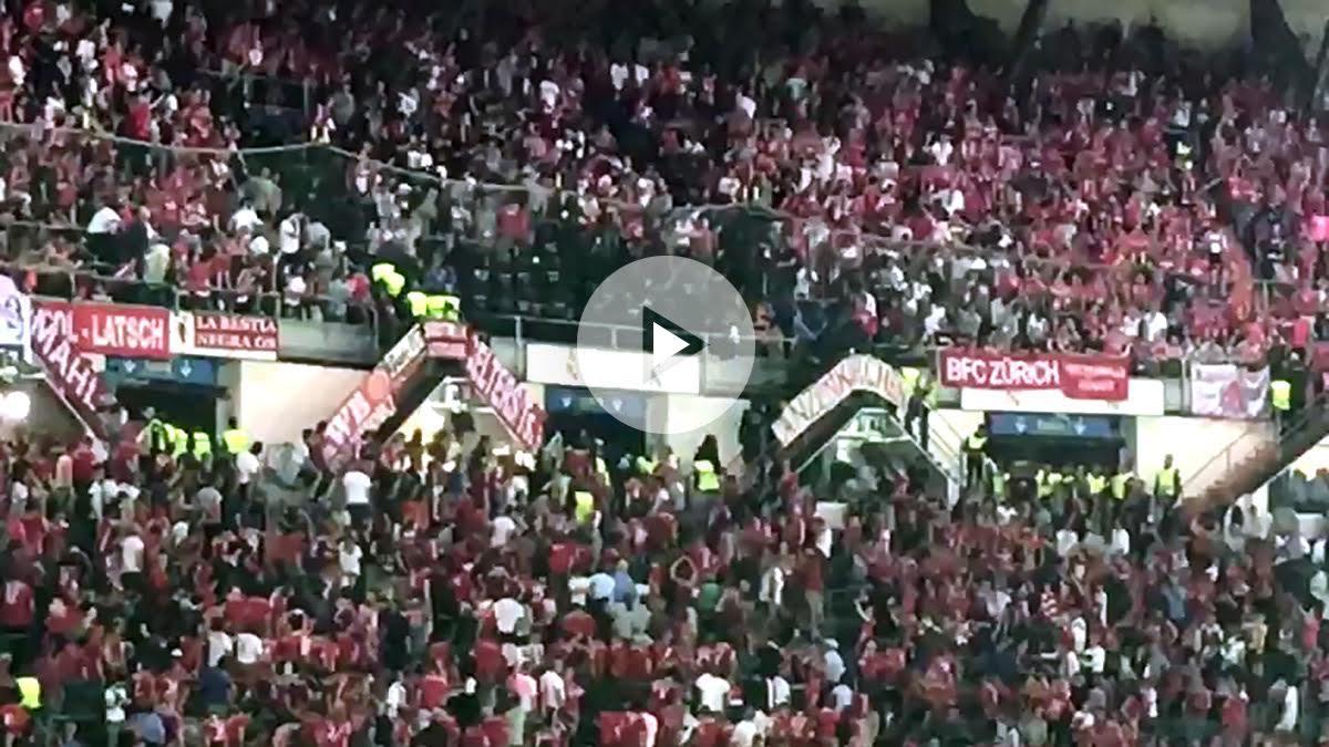 La Policía Nacional cargó contra los aficionados del Bayern.