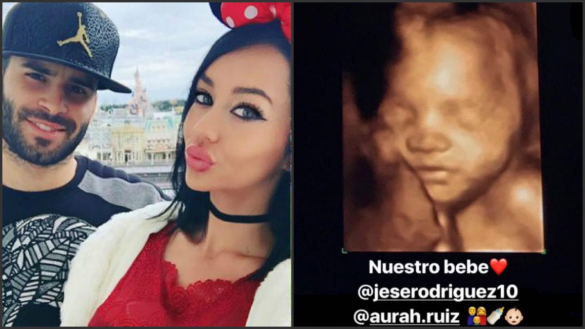 Aurah Ruiz y Jesé Rodríguez serán padres en 2017.