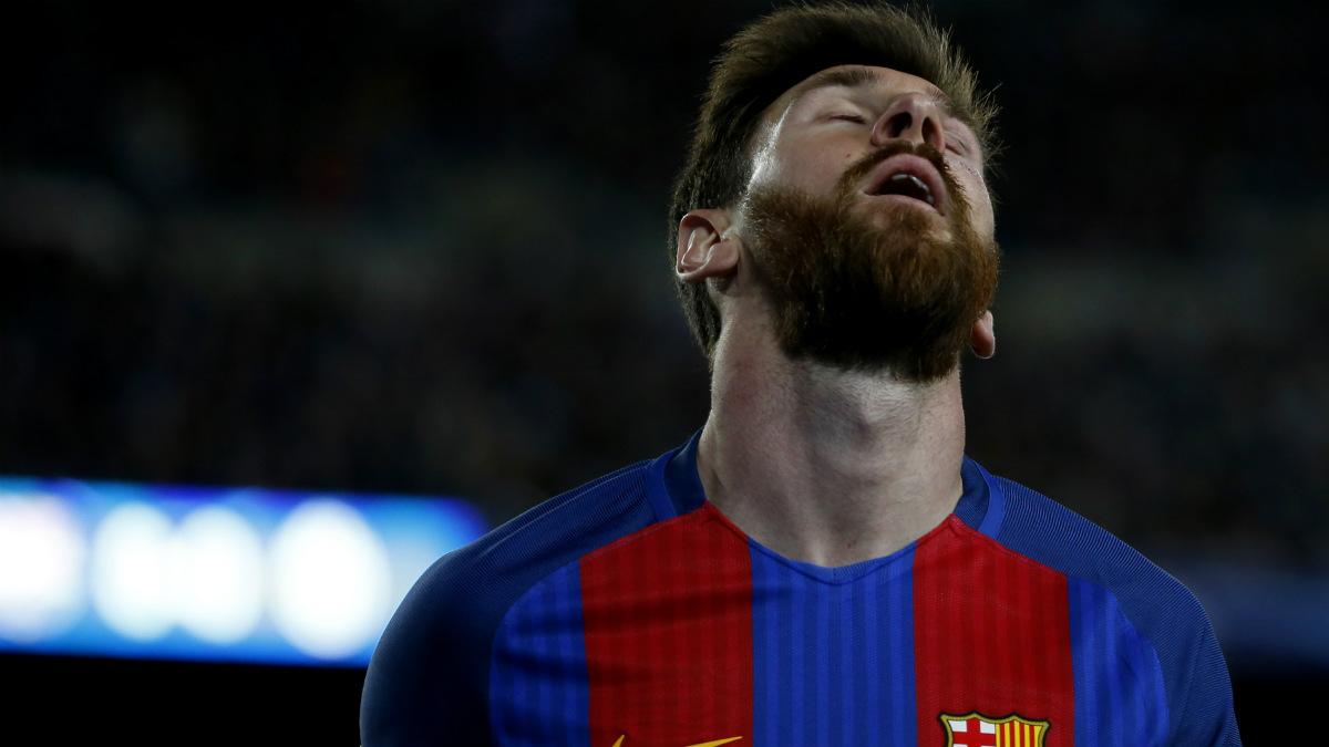 Messi durante el Barcelona-Juventus. (AFP)
