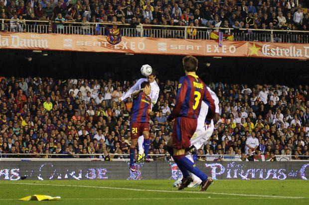 Cristiano y su golazo en la final de Copa del Rey. (AFP)
