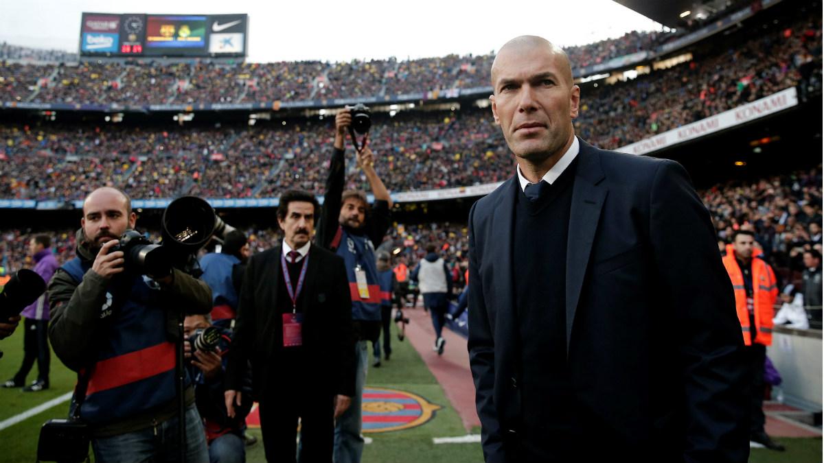 Zidane aún no ha perdido contra el Barcelona. (Getty)