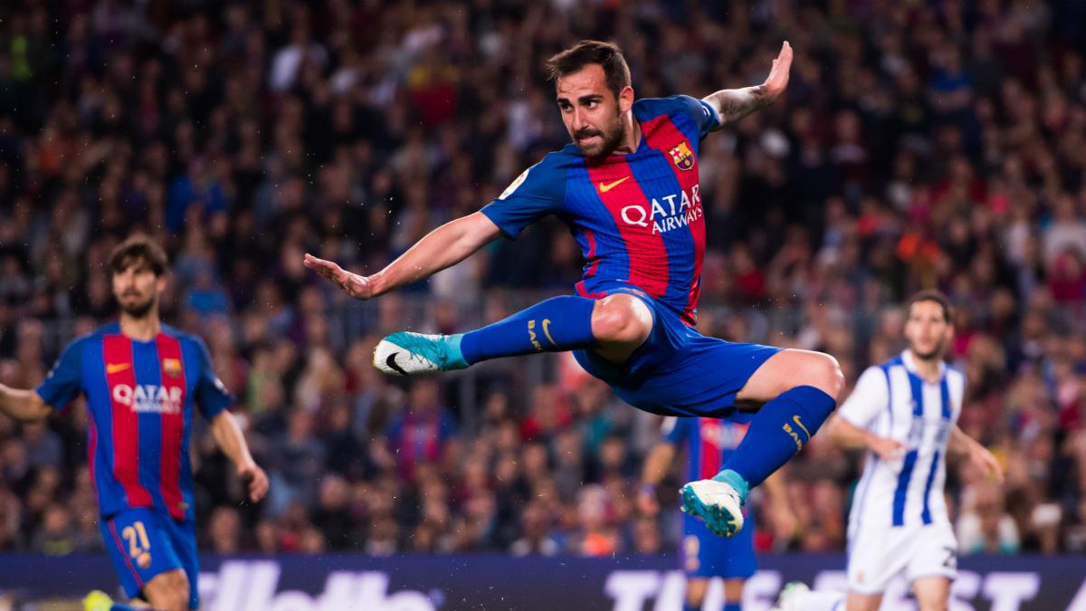 Alcácer, en un partido del Barcelona. (Getty)