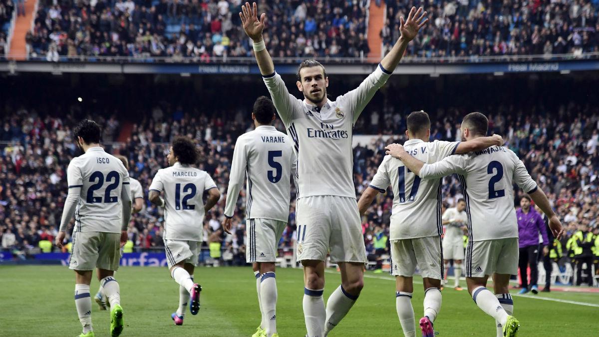 Bale celebra un gol con el Real Madrid. (AFP)