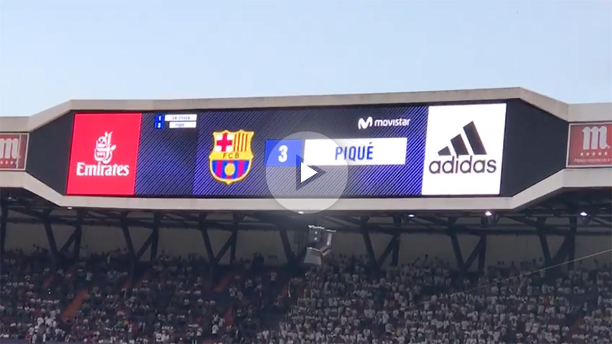 Piqué recibió lo suyo: ¡tremenda pitada del Bernabéu!