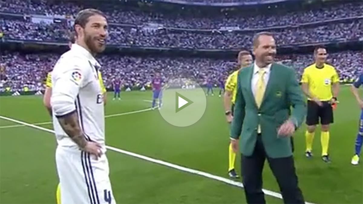 Sergio García hizo el saque de honor y presumió de chaqueta verde en el Clásico