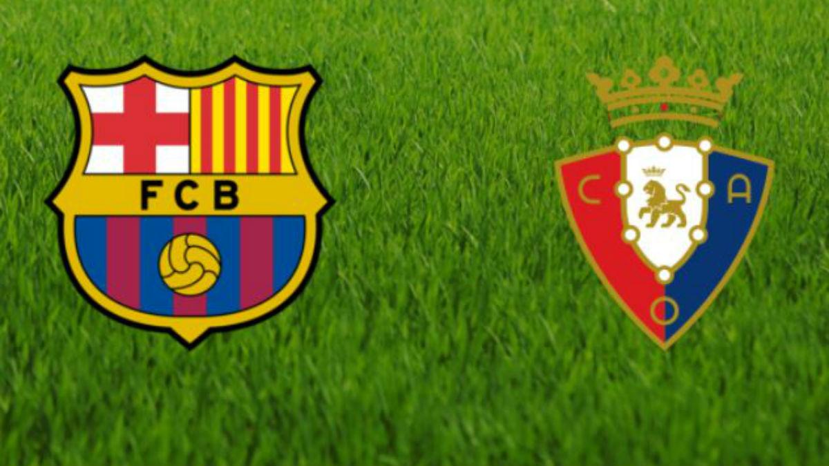 Barcelona y Osasuna se enfrentan en el Camp Nou.