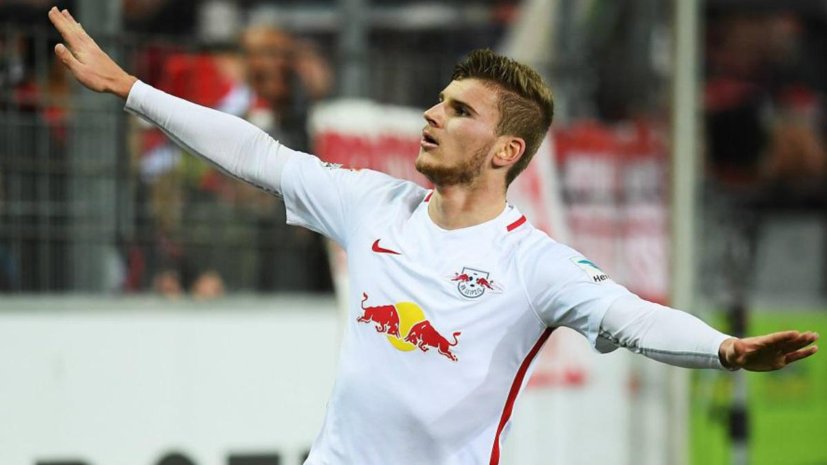 Werner celebra un gol con el Red Bull Leipzig. (Bundesliga.com)