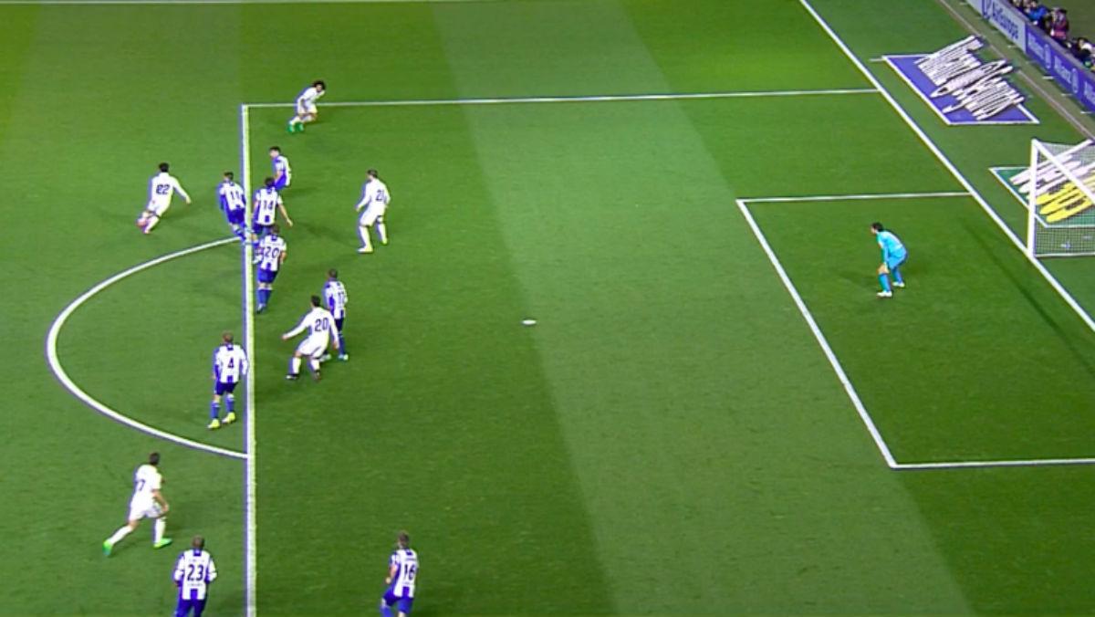 Marcelo no estaba en fuera de juego en el gol de Marcelo.