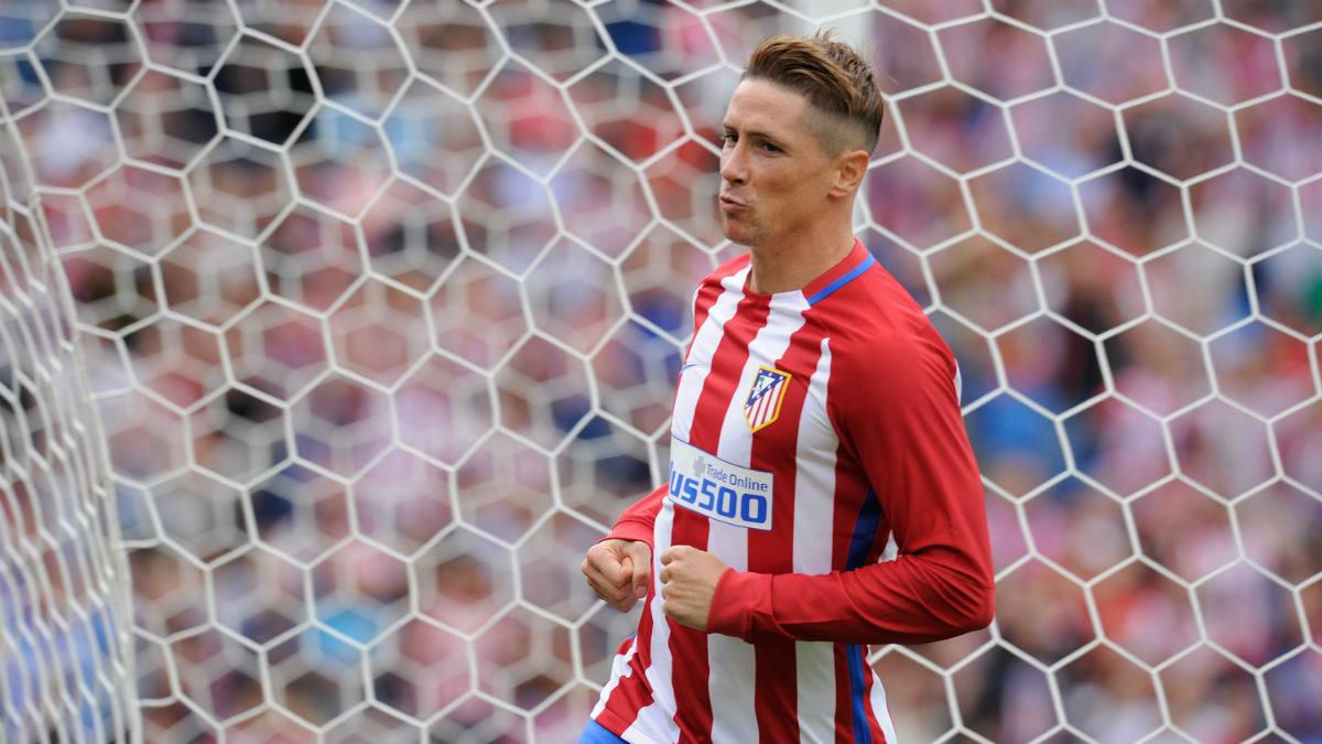 Fernando Torres celebra un gol con el Atlético. (Getty)