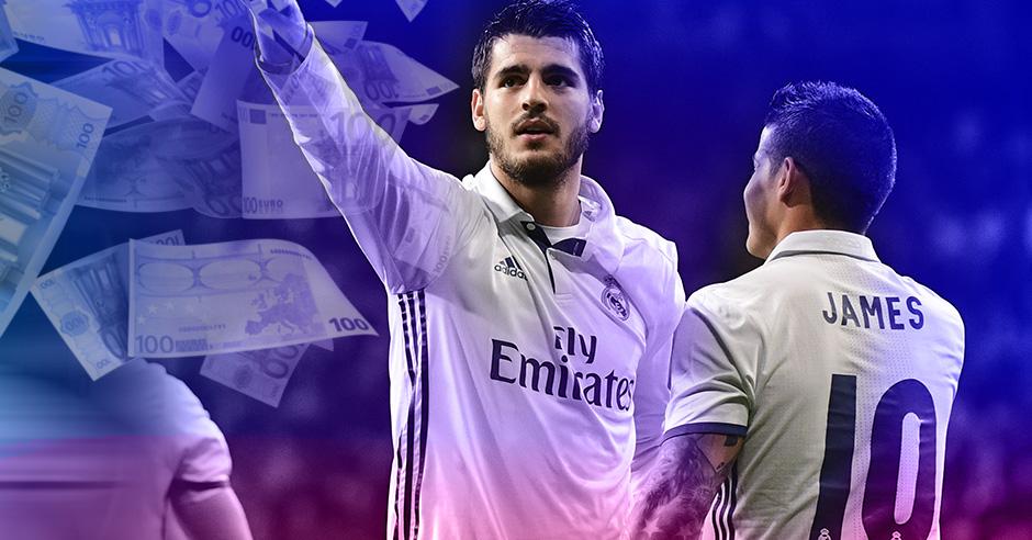 El Madrid se frota las manos con James y Morata