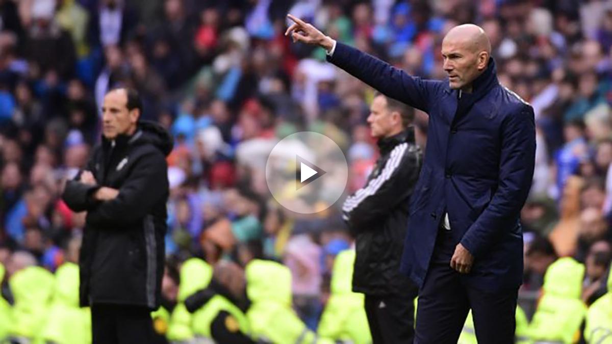 Zidane apostó por James de inicio.