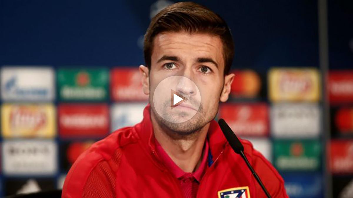 Gab durante una rueda de prensa con el Atlético de Madrid. (Getty)