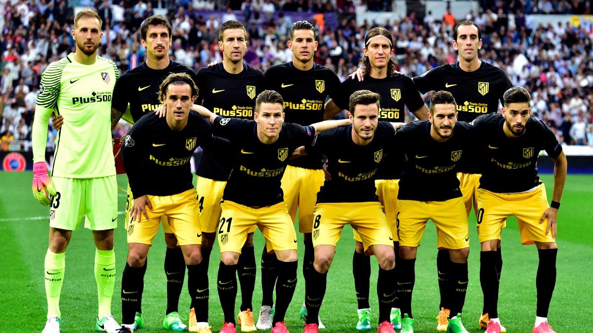 Alineación titular del Atlético frente al Real Madrid