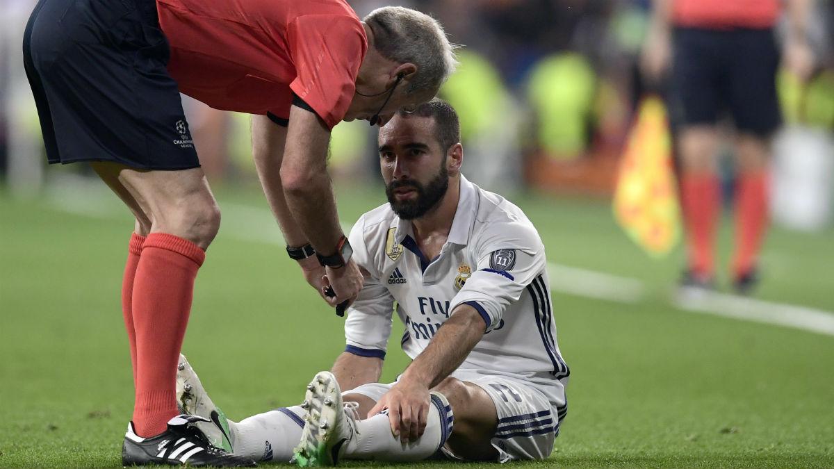 Carvajal se marchó lesionado. (AFP)