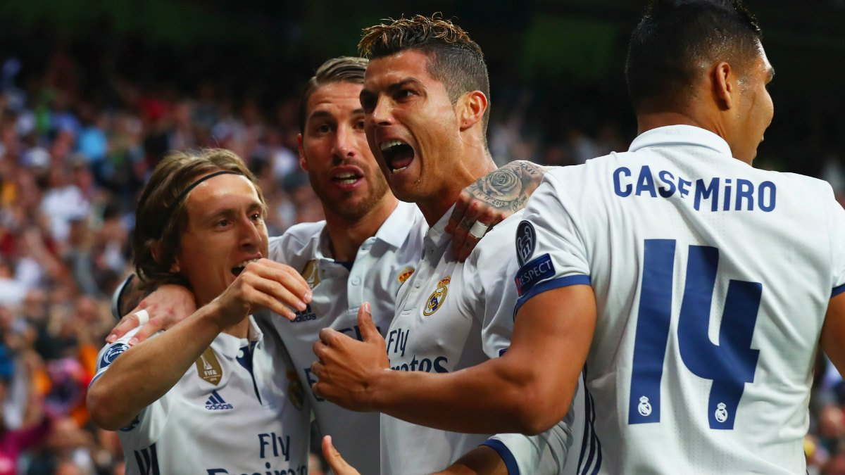 Cristiano Ronaldo celebra el 1-0 del Real Madrid. (Getty)