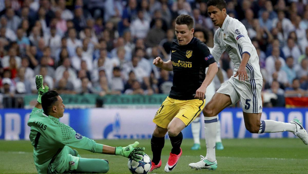 Keylor dejó la portería a cero contra el Atlético. (AFP)