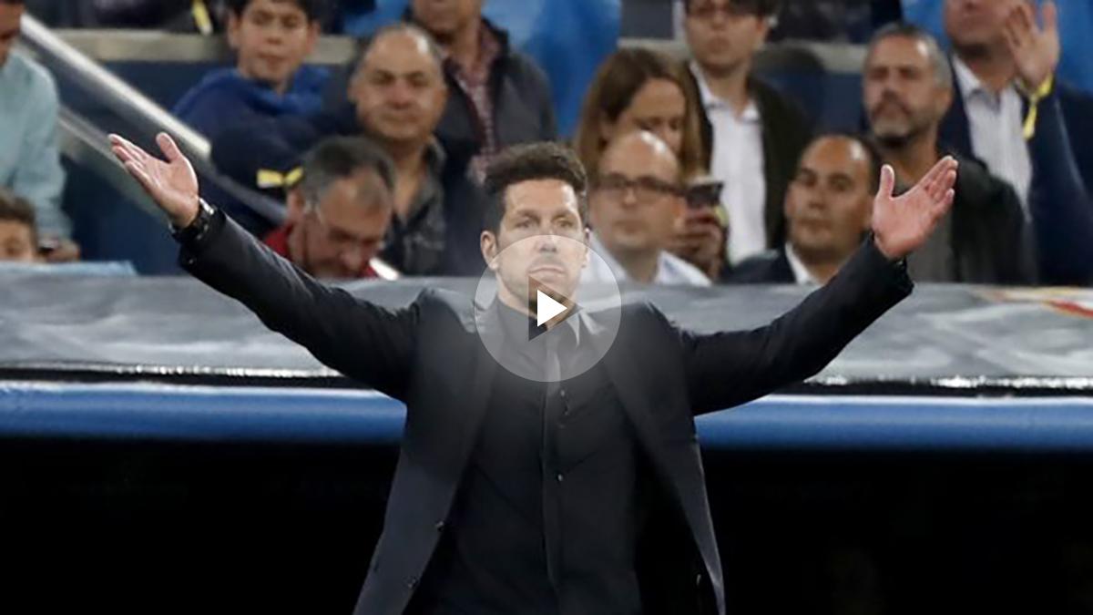 El Cholo Simeone, durante el Real Madrid vs Atlético. (EFE)