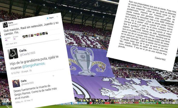 Los tuits de la autora de la carta viral del Atlético.