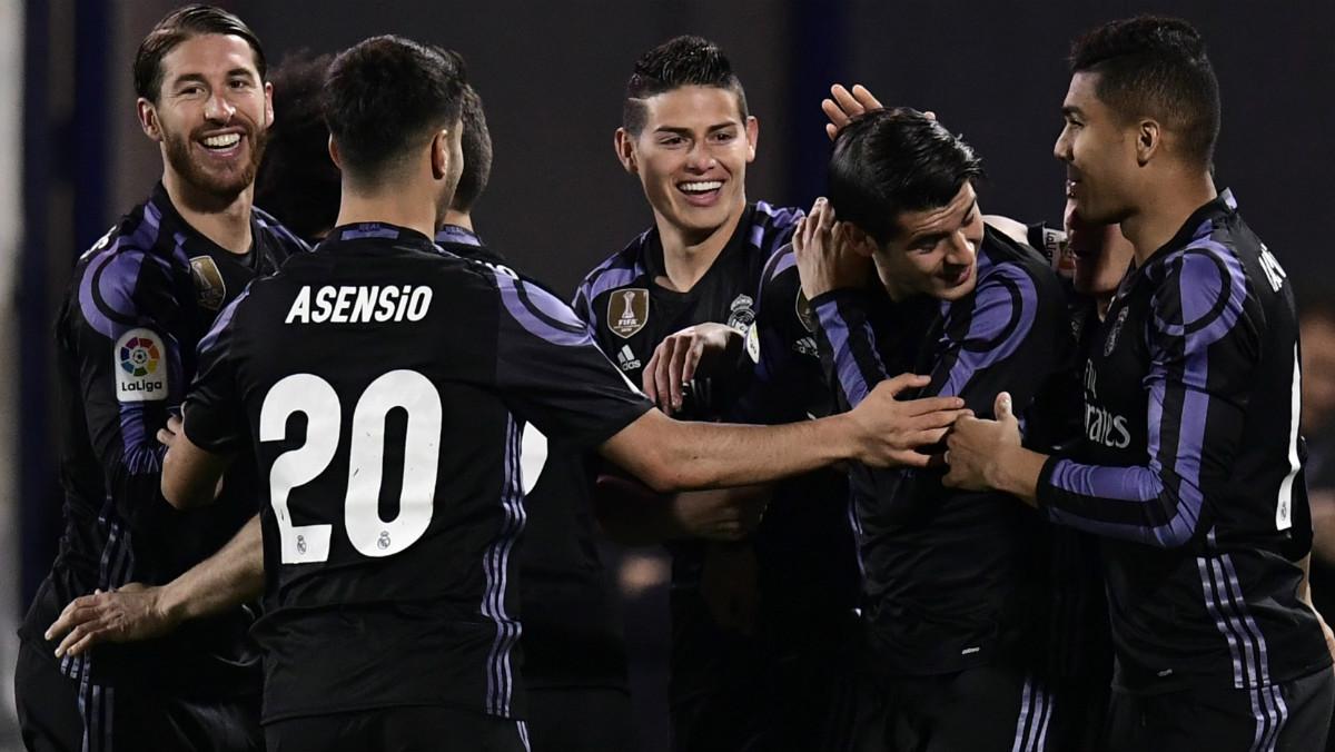 El Real Madrid acumula 8 victorias consecutivas fuera del Bernabéu. (AFP)
