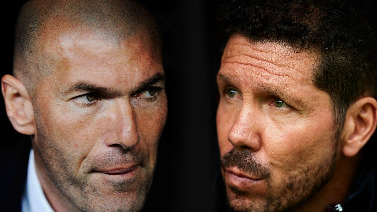 Zinedine Zidane y Cholo Simeone. (Getty)