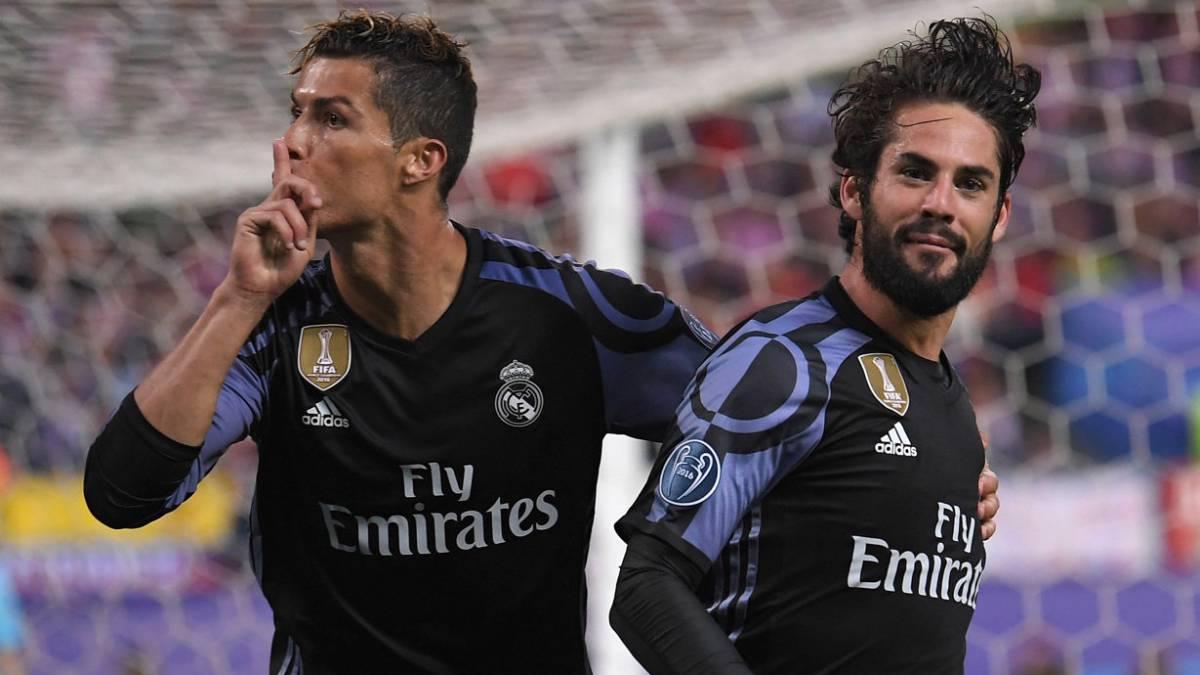 Cristiano Ronaldo manda callar a la afición del Atlético.