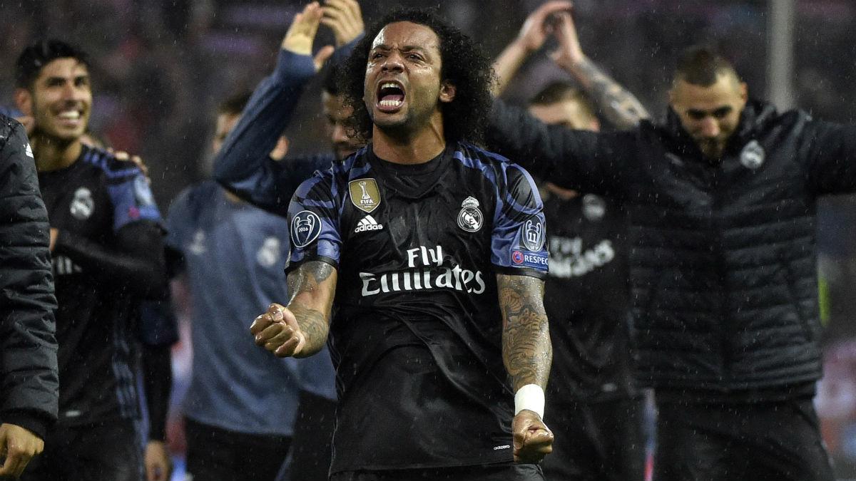 Marcelo celebra el pase a final. (AFP)