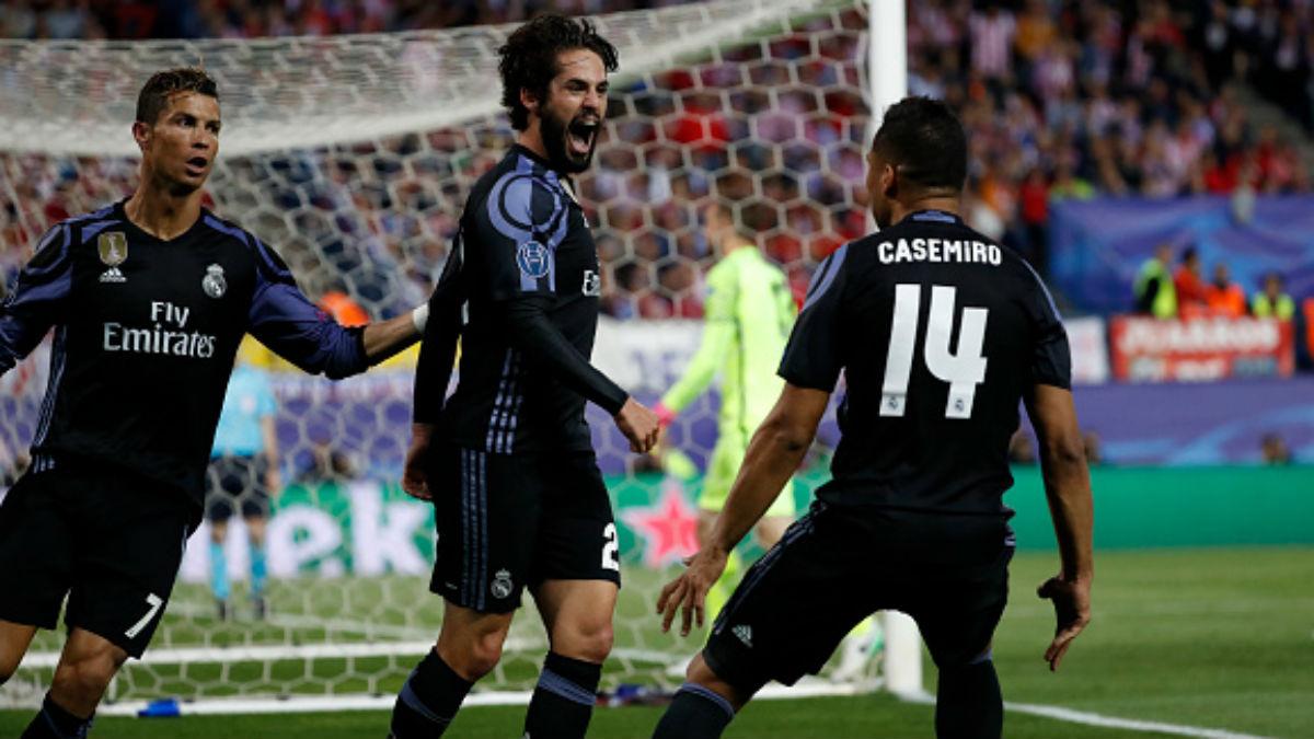 Cristiano, Isco y Casemiro