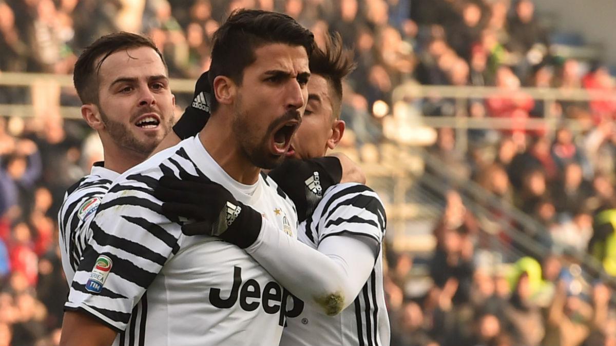 Khedira celebra un gol con la Juventus. (AFP)