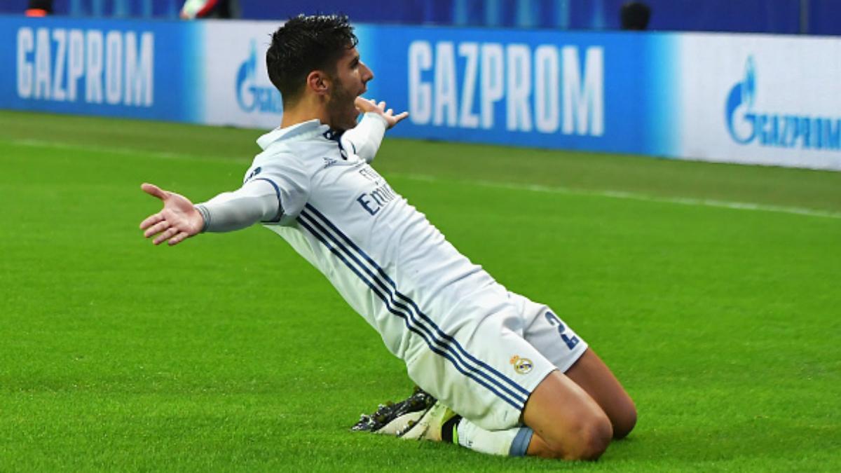Asensio celebra el gol marcado al Sevilla en la Supercopa (Getty).