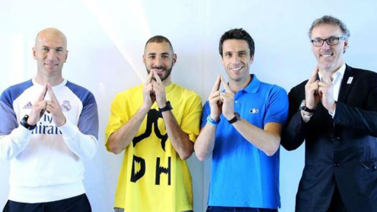 Benzema y Zidane dan su apoyo a la candidatura de los Juegos Olímpicos de París 2024.