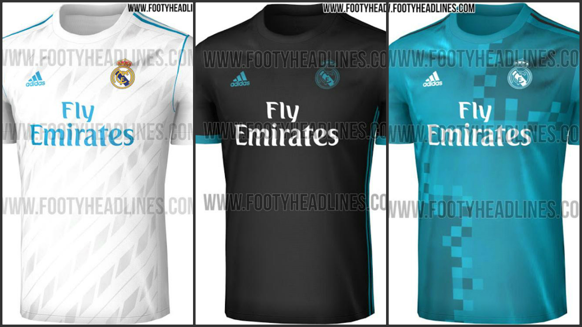 Las equipaciones del Real Madrid 2017-18. (Fotos Footy Headlines)