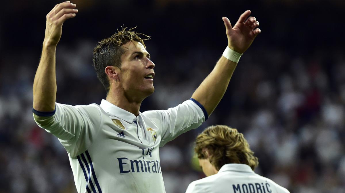 Cristiano Ronaldo, celebrando un gol ante el Sevilla el 14 de mayo.