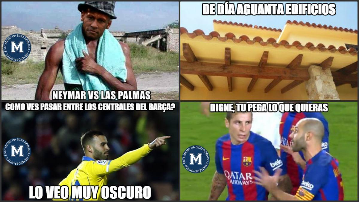 Los mejores memes del duelo entre Las Palmas y Barcelona.