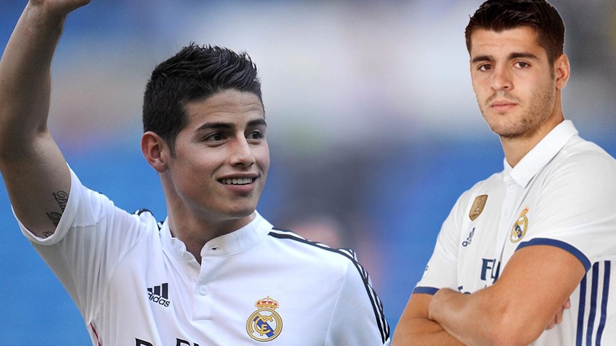 El Real Madrid espera recaudar 160 millones por James y Morata