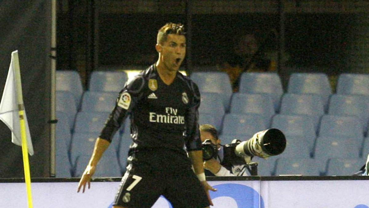 Cristiano Ronaldo anotó dos goles contra el Celta. (EFE)