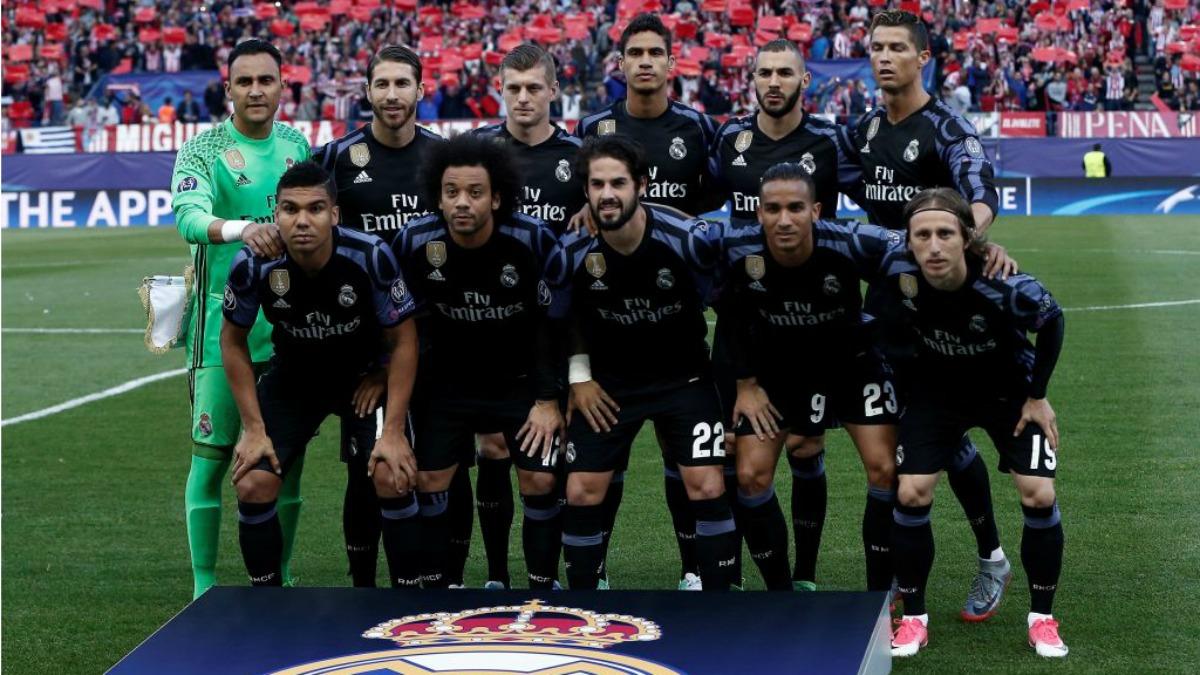 El once del Real Madrid en el Vicente Calderón. (Getty Images)