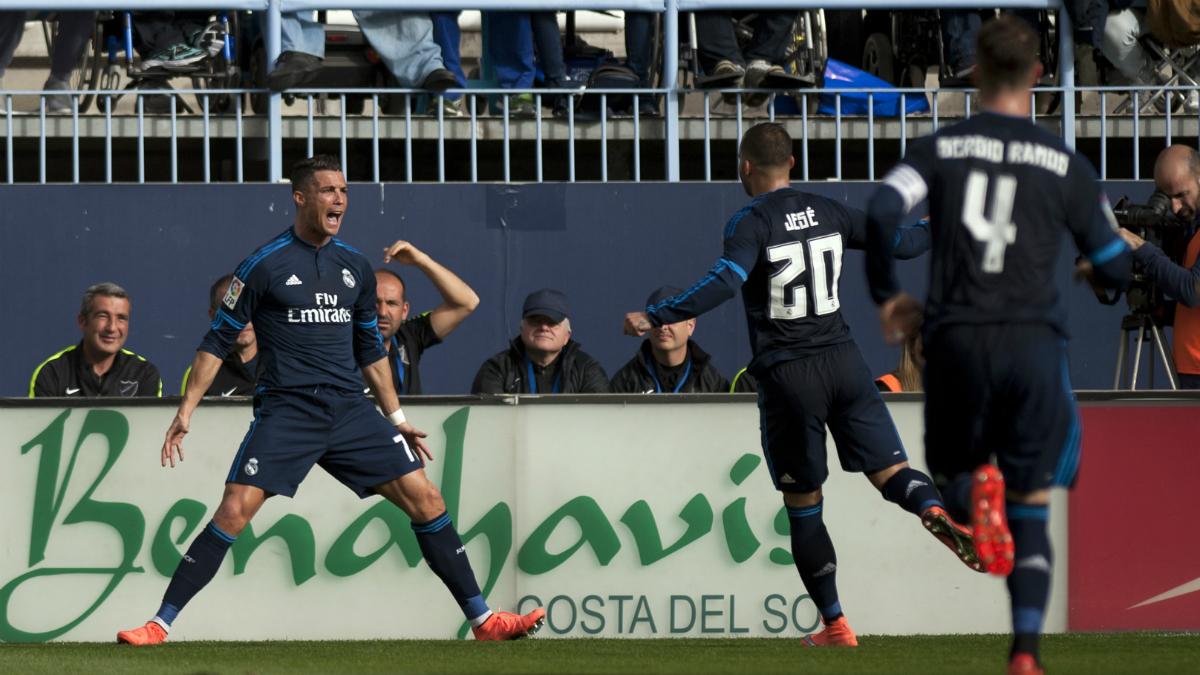 Cristiano celebra el gol marcado al Málaga la pasada temporada (AFP).